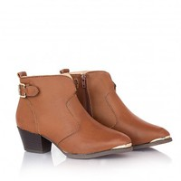 Missguided - Greenly Gold Detail Chelsea Boots In Tan