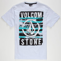 Volcom Skullyosis Boys T-Shirt White Multi  In Sizes