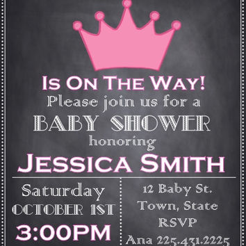 Baby Shower Princess Personalized Invitations