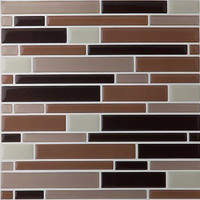 Park Avenue 6 Pack Magic Gel Wall Tile Piano Coffee / Beige