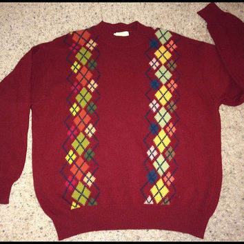 Sale!! Vintage United Color of BENETTON wool sweaters retro pullovers Made in ITALY