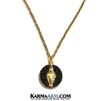 NECKLACE | St. Mary Miracle Medal | Gold Chain Jewelry