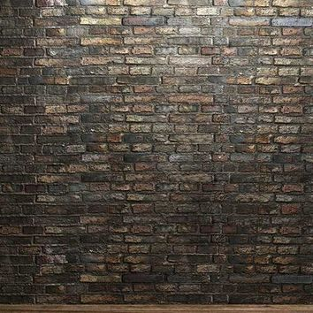 Brown Gray BRick Wall Vinyl Backdrop - 6x8 - LCCR122 - LAST CALL