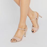 New Look Wide Fit | New Look Barely There Mid Heel at ASOS