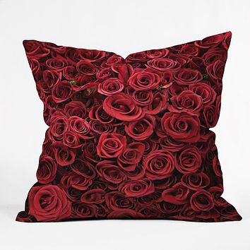 Catherine McDonald Flower Market 3 Throw Pillow