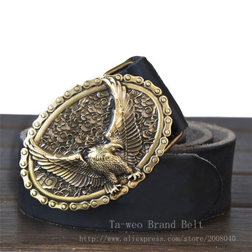 Eagle Totem Copper Belt Buckle