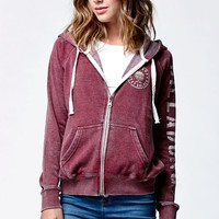 Billabong Sundream Zip-Up Hoodie - Womens Hoodie - Cherry