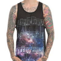 RUDE Galaxy Music Notes Tank Top