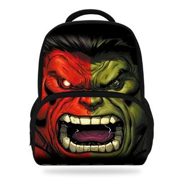Boys bookbag trendy 14Inch Cooler Hulk Backpack For Children School Bag For Teenager The Avengers s For Kids AT_51_3
