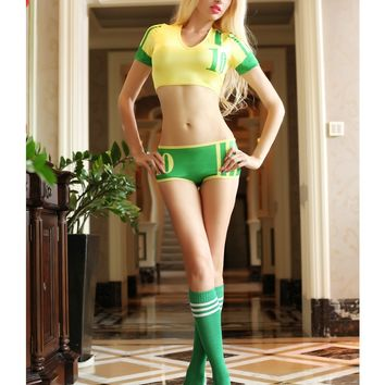 MOONIGHT New Cheerleader Costumes Set For Women Sexy Nightclubs Clothing