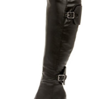 Tall Tales Black Over the Knee Boots