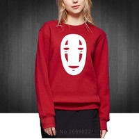 Spirited Away Faceless Monster Printed Women Sweatshirts Fashion Autumn Winter Cotton Hoodies For Woman Girl