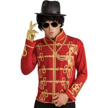 Michael Jackson Men's  Military Jacket Costume Red