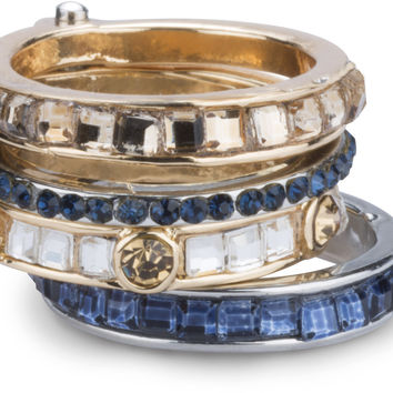 Coastal - Ring with 4 Stacked Crystal Layers