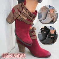 Ankle Booties Womens | Vintage Low Heel Ankle Boots