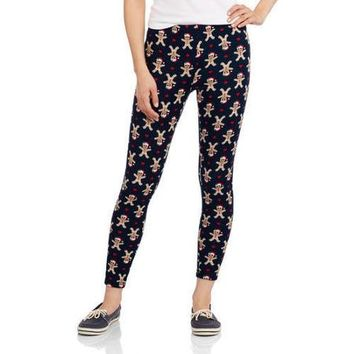 No Boundaries Juniors Fleeceback Hacci Leggings - Walmart.com