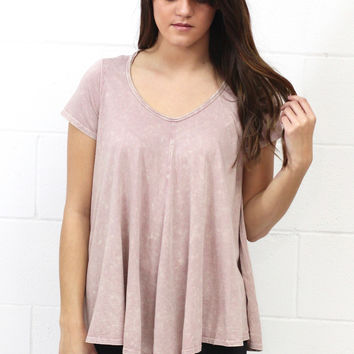 Just Wash Me Mineral Basic Top {Mauve}