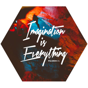 Imagination is Everything Hex Wall Decal