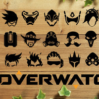 Overwatch Heroes Stickers Decal Stickers for Laptop, Cars, iPad, iPhone, Wall, Water Bottles
