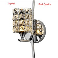 Modern Wall Lamp K9 Crystal Sconce G9 Hotel Bedroom Stairs Wall Light Home Indoor Decoration Fixtures Bedroom Bathroom Light