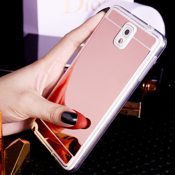 Plating Mirror Soft TPU Back Case Cover For Samsung Galaxy S3 S4 S5 S6 S7 A5 A7 A510 A710 J510 J710 J5 J7 2015 2016  Phone Case