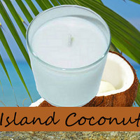 Island Coconut Scented Candle in Tumbler 13 oz