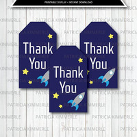 Printable Thank You Tag, Solar System, Space, Planets, Science, Explorer, Astronaut,Planetary Birthday,Decorations, Favor Tags, Loot Bag Tag