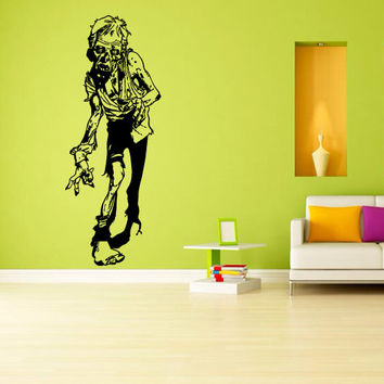 Wall decal decor decals sticker art vnyl design mummy zombie horror fear dead myth character corpse Bedroom (m1246)