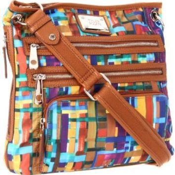 Tyler Rodan Kingston Cross Body,Spectrum Plaid,One Size