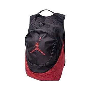 Nike Air Jordan Jumpman Backpack - Red/Black Elephant Pattern
