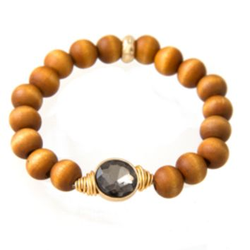 Wooden It Be Ice Bracelet-Onyx