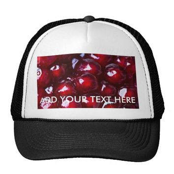 Red Pomegranate Seeds Trucker Hat