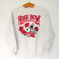 Vintage 1990s Wisconsin Badger Rose Bowl Sweatshirt
