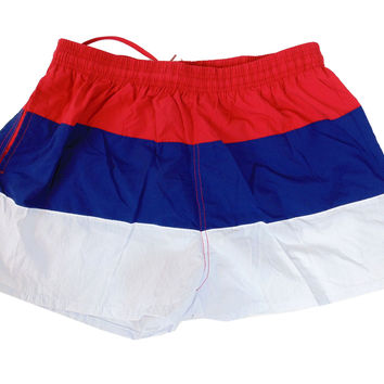 Unisex Dry Fast Color Block Swim Short