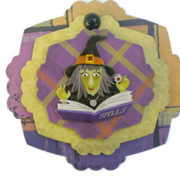 Halloween, Witch, Magic Spells, Scrapbook Embellishment, paper piecing, scrapbooking page, album, brag book, tag, journal
