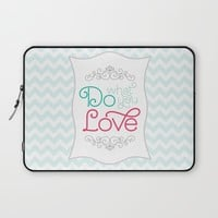 Do What You Love Pastel Print Laptop Sleeve by Noonday Design