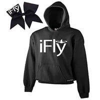 iFly Cheer Combow- White Print (Black, Adult Medium)