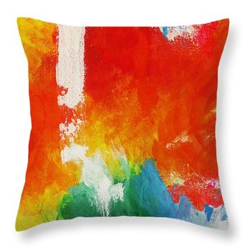 "Water and fire Throw Pillow 14"" x 14"""