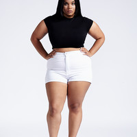 City Of Posh Short Plus Size - White
