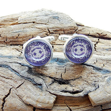 Overwatch sombra logo cufflinks earrings, Virus skin skull logo, Men's jewelry, video game sombra overwatch, Overwatch Fan Art simbol patch