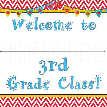 Printable 3rd Grade Teacher Door & Wall Sign
