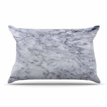 "Chelsea Victoria ""Marble"" Blue Black Pillow Case"