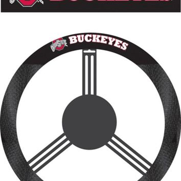 DCCKG8Q NCAA Ohio State Buckeyes Poly-Suede Steering Wheel Cover