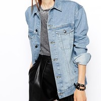 ASOS TALL Exclusive Denim Jacket In Oversized Boyfriend Fit