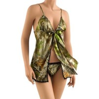 Legendary Whitetails Women's Realtree Camo Baby Doll Lingerie