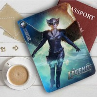 Legend of Tomorrow Hawkgirl Leather Passport Wallet Case Cover