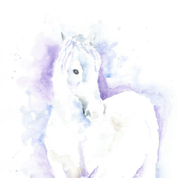 Original Watercolor Horse Painting