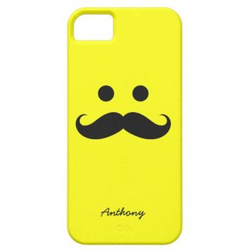 iPhone 5 Case Personalized Mustache Smiley Face from Zazzle.com