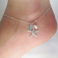 20 OFF SHOP SALE Starfish adjustable anklet by jmesjewelrybox