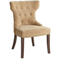 Hourglass Dining Chair - Gold Damask